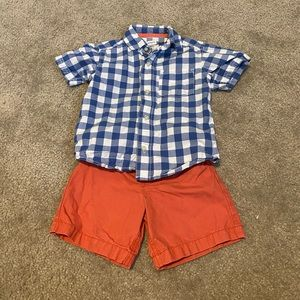 Carters button down shirt with matching shorts